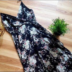 ESSUE black floral high-low dress